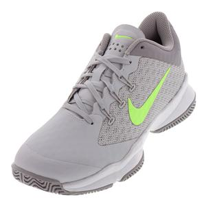 Women`s Air Zoom Ultra Tennis Shoes Vast Gray and Volt Glow