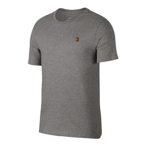 Men`s Court Heritage Tennis Tee Dark Gray Heather