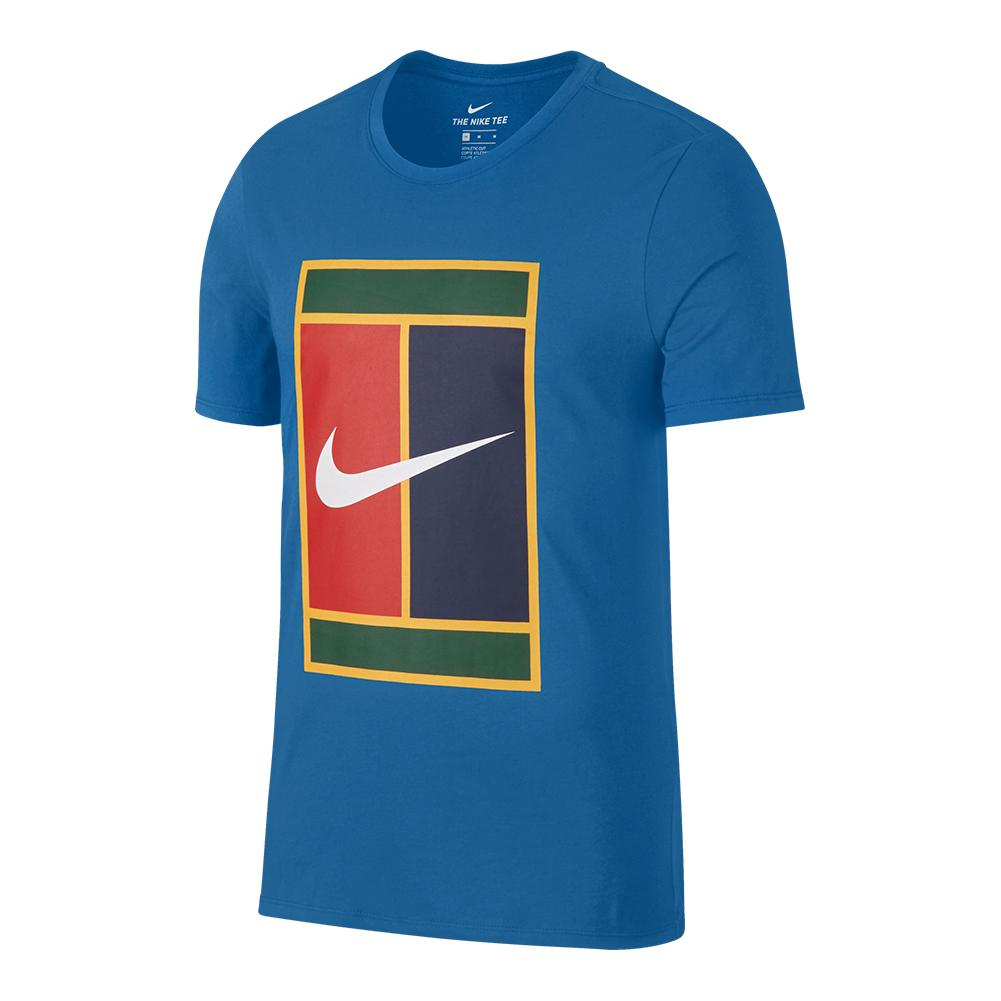 Men's Court Heritage Logo Tennis Tee Military Blue