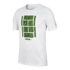 Men`s Court Wimbledon Icon Tennis Tee White