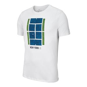 Men`s Court US Open Icon Tennis Tee White