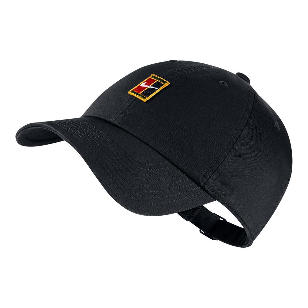 H86 Court Logo Tennis Cap Black