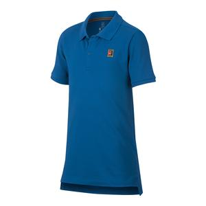 Boys` Court Heritage Tennis Polo Military Blue