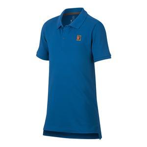Boys` Court Heritage Tennis Polo Military Blue