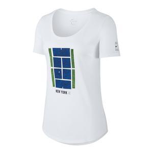 Women`s Court US Open Icon Tennis Tee White