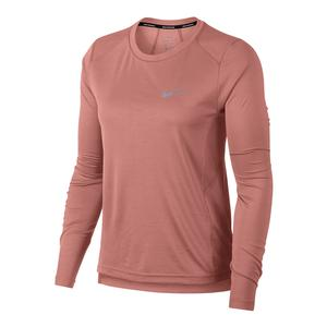 Women`s Dry Miler Long Sleeve Running Top Rust Pink