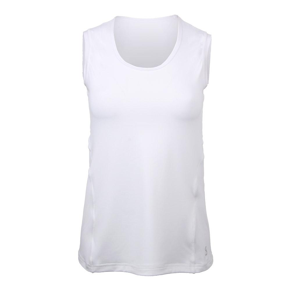 Women's Smash Sleeveless Tennis Tank White