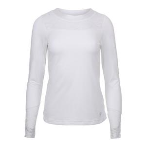 Women`s Bounce Long Sleeve Tennis Top White
