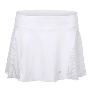 Women`s Skill 12 Inch Tennis Skort White