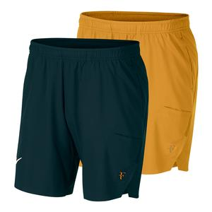 Men`s Roger Federer Court 9 Inch Flex Ace Tennis Short