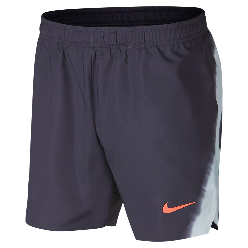 afd4c5493459 Men`s Rafa Court Flex Ace 7 Inch New York Tennis Short 009 GRIDIRON PLAT