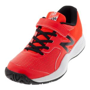Juniors` 696v3 Tennis Shoes Flame and Black