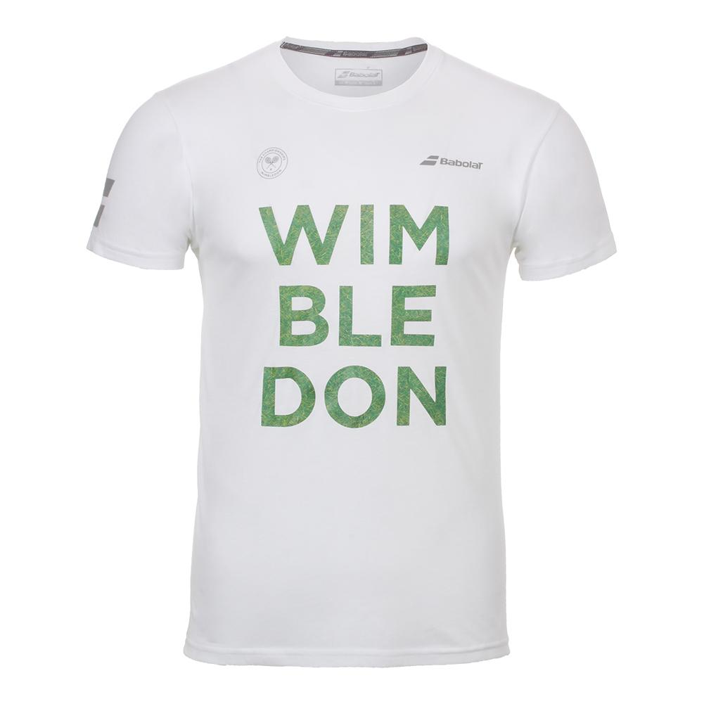 Men's Wimbledon Core Cotton Tennis Tee White