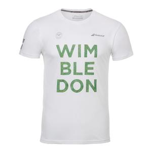 Men`s Wimbledon Core Cotton Tennis Tee White