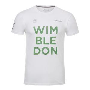 Men`s Wimbledon Core Cotton Tennis Tee White