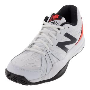 Men`s 786v2 D Width Tennis Shoes Petrol and Flame