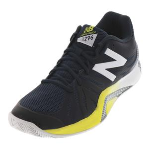 Men`s 1296v2 D Width Tennis Shoes Petrol and Limeade