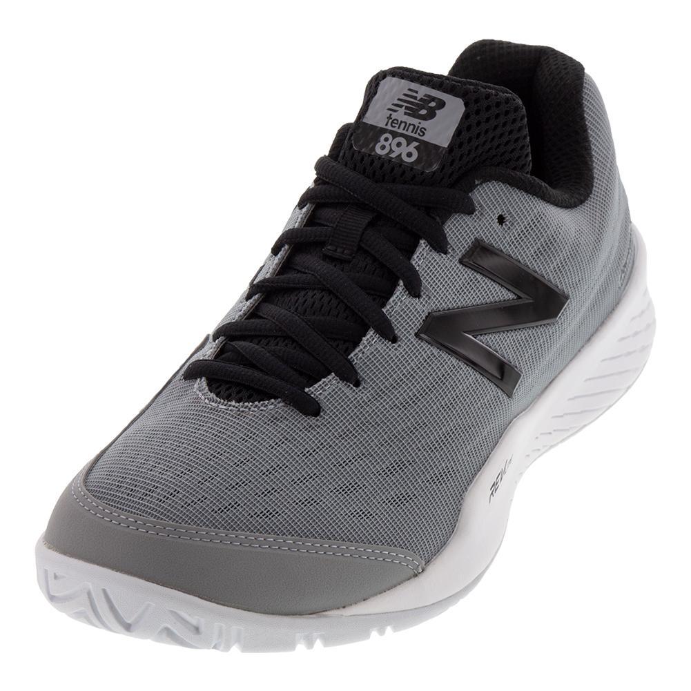 Men's 896v2 D Width Tennis Shoes Gray And Black