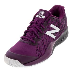 Men`s 996v3 D Width Tennis Shoes Claret and Black