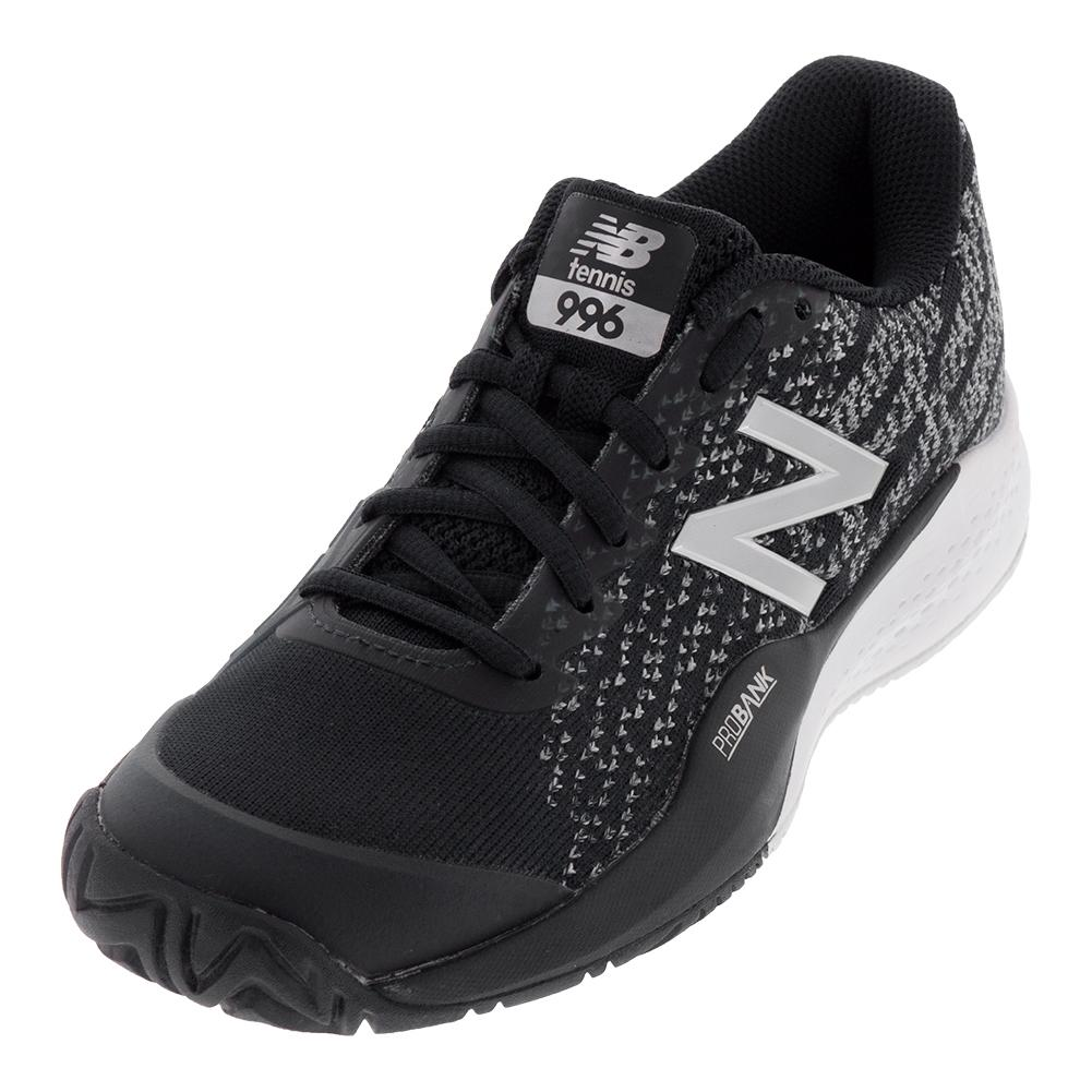 Men's 996v3 2e Width Tennis Shoes Black And White
