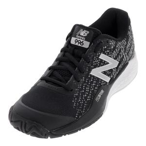 Men`s 996v3 2E Width Tennis Shoes Black and White