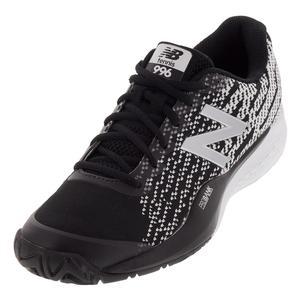 Men`s 996v3 D Width Tennis Shoes Black and White