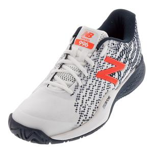 Men`s 996v3 D Width Tennis Shoes White and Petrol