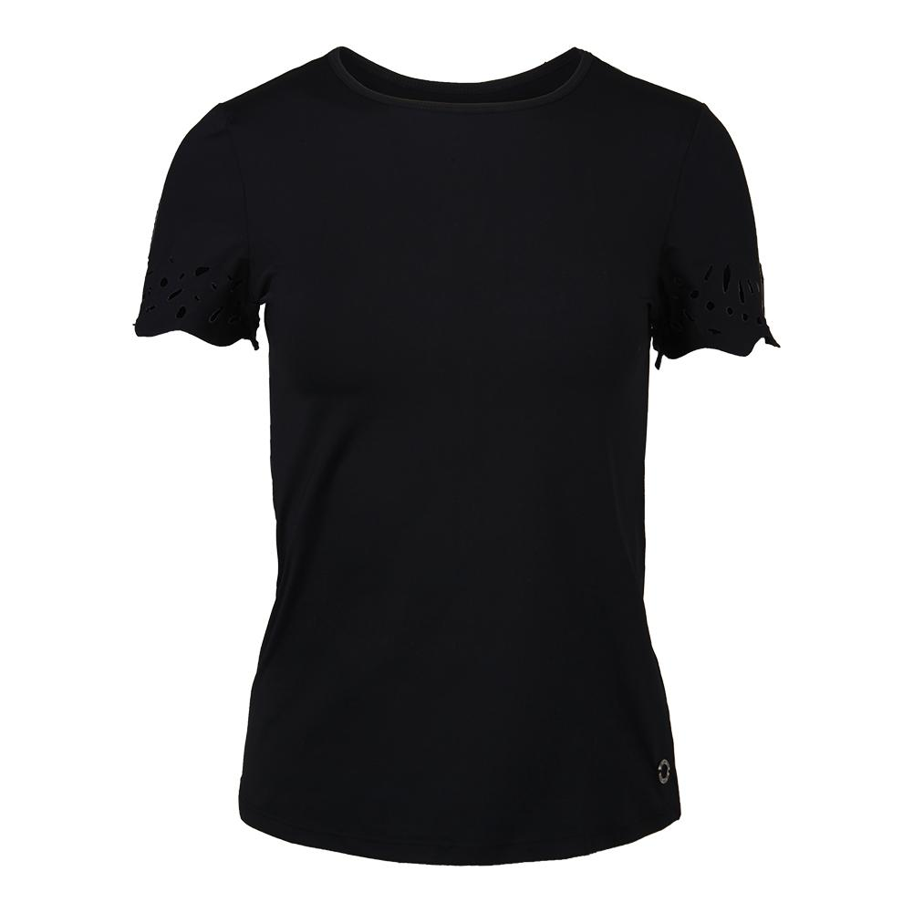 Women's Essence Tennis Top Black