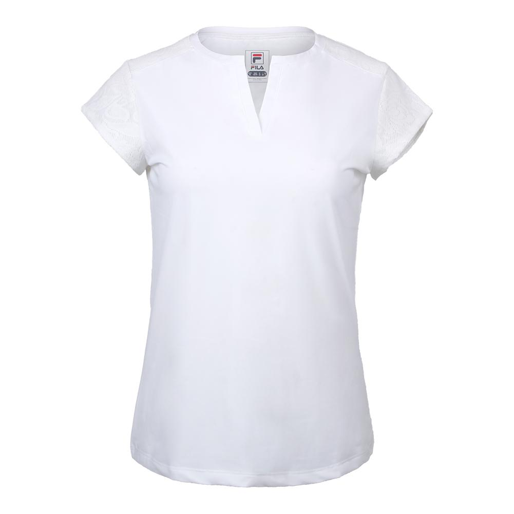 Women's The Championships Cap Sleeve Tennis Top White