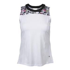 Women`s Pop Art Tennis Tank White