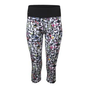 Women`s Pop Art Tennis Capri Print