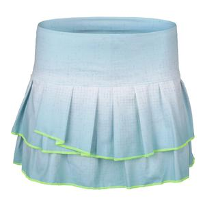 Women`s Palm Bay Pleat Tier Tennis Skort Aquafrost