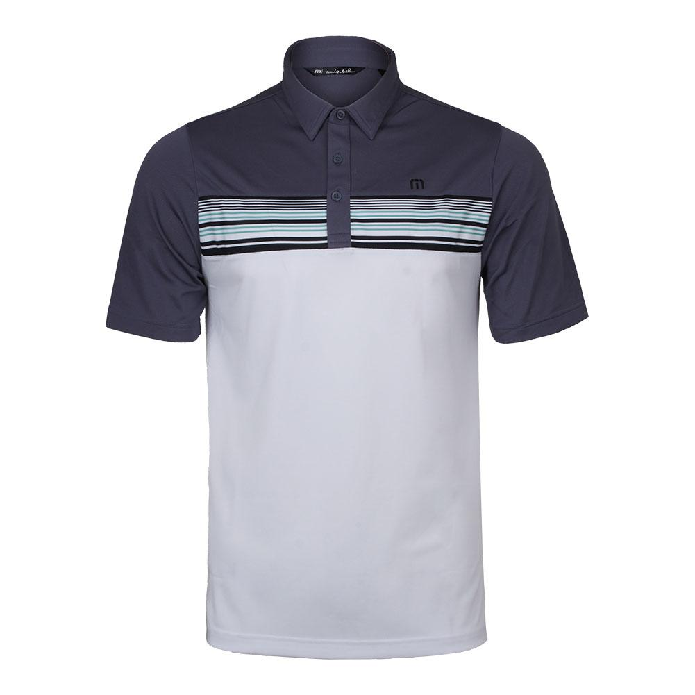Men's Otters Tennis Polo Grisaille And White