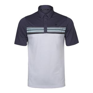 Men`s Otters Tennis Polo Grisaille and White