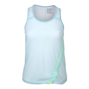 Women`s Edge Mesh Layer Tennis Tank Aquafrost