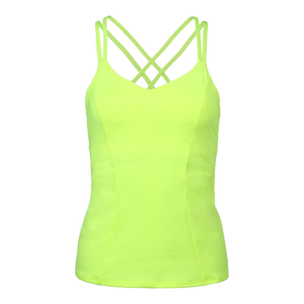Women's Outta Sight Tennis Cami Neon Yellow