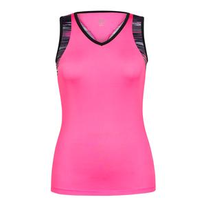 Women`s Billy Sleeveless V-Neck Tennis Top Sweet Pea