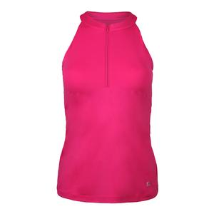 Women`s Fundamental Halter Tennis Tank Raspberry Rose