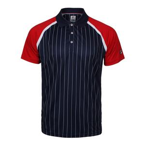 Men`s Heritage Pinstripe Tennis Polo