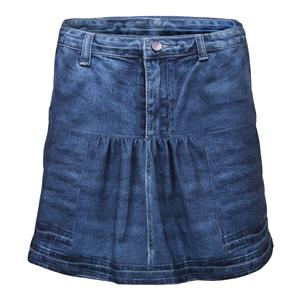 Women`s Long Pocket Tennis Skort Medium Denim