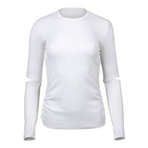 Women`s Stadium Long Sleeve Tennis Top White
