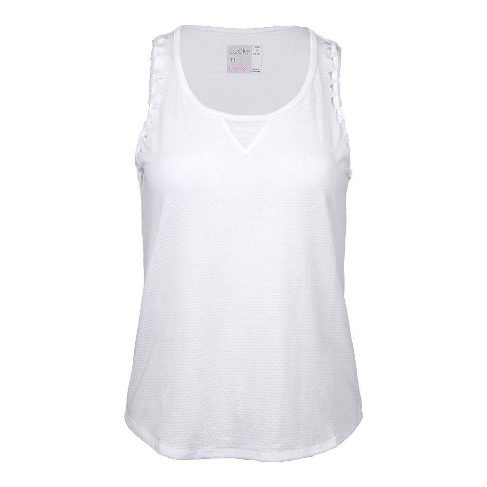 Women's Twisted Racerback Tennis Tank White
