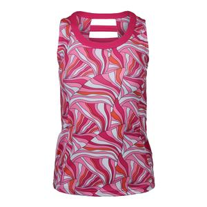 Women`s Color Burst Racerback Tennis Tank Print