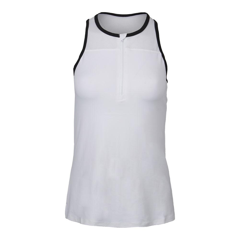 Women's Snap Tennis Tank White