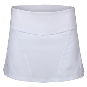 Women`s Color Burst Woven 14 Inch Tennis Skort White