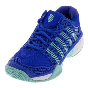 Women`s Hypercourt Express Tennis Shoes Dazzling Blue and Aruba Blue
