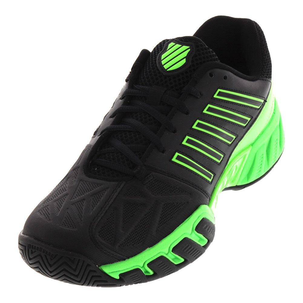 Men's Bigshot Light 3 Tennis Shoes Black And Neon Lime