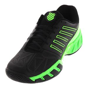 Men`s BigShot Light 3 Tennis Shoes Black and Neon Lime