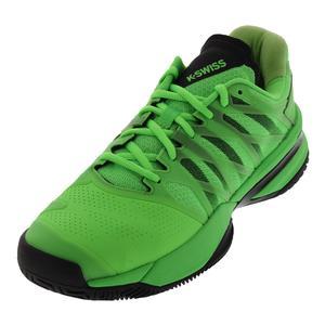 Men`s Ultrashot Tennis Shoes Neon Lime and Black