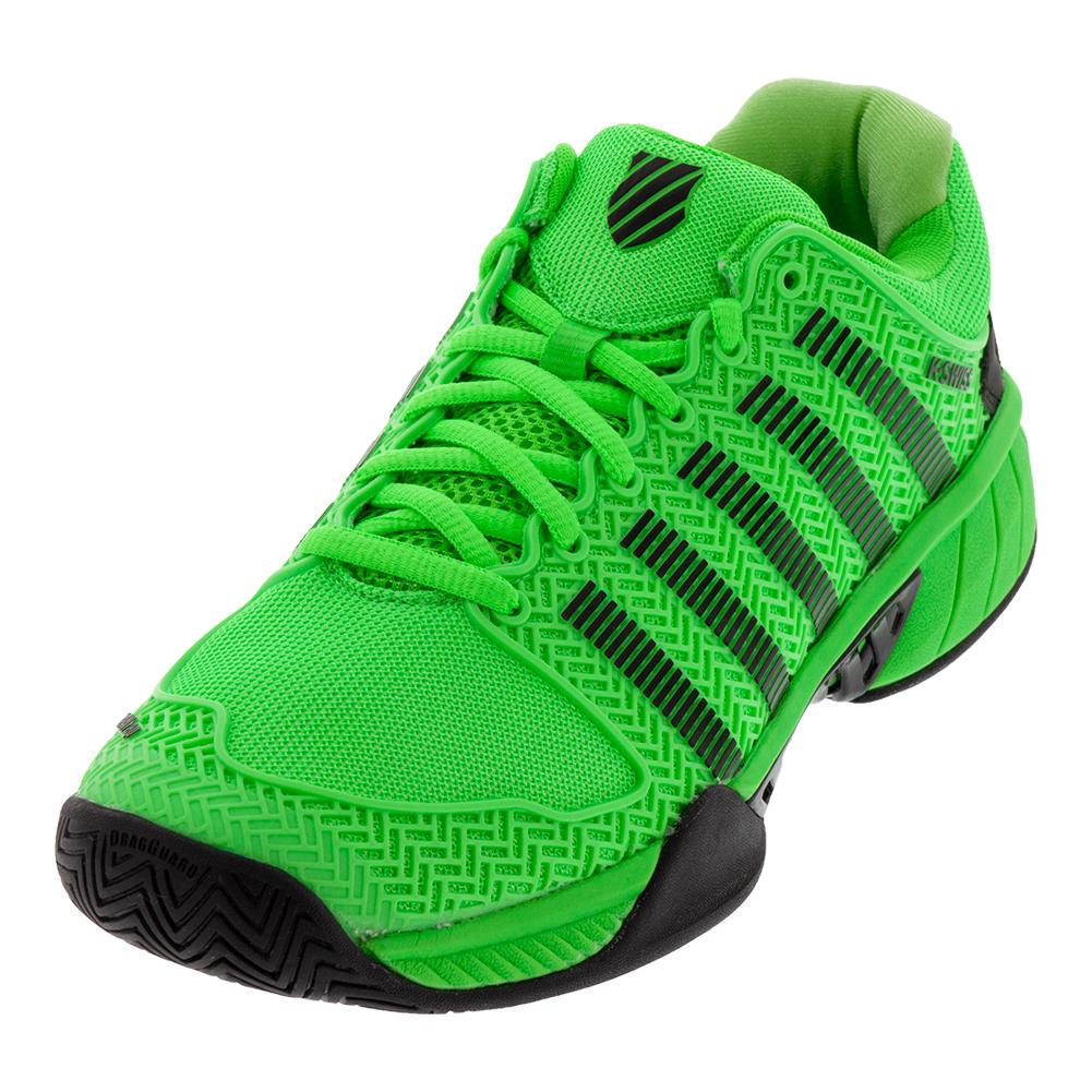 Men's Hypercourt Express Tennis Shoes Neon Lime And Black